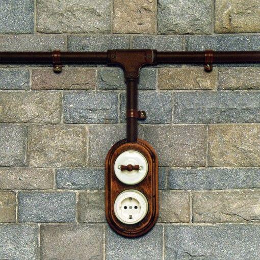 Einbaubeispiel Aufputzschalter-Systeme Garby und Dimbler