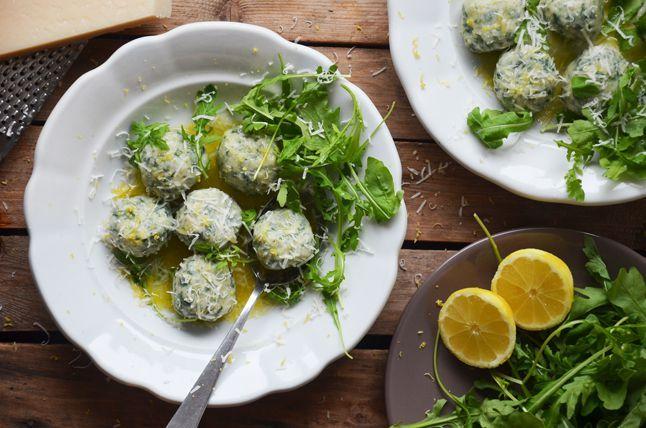 Kublanka vaří doma - Špenátovo-ricottové gnocchi s citrónem