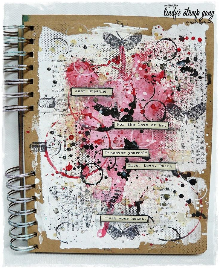 step by step art journal tutorial My blog: http://artistycrafty.blogspot.ie/ My instagram: http://instagram.com/maremis_small_art My pinterest: http://www.pi...
