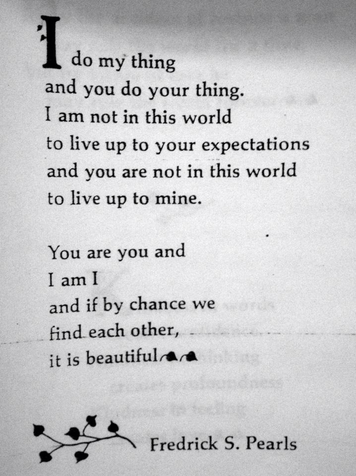You are you. I am I and the two become we.