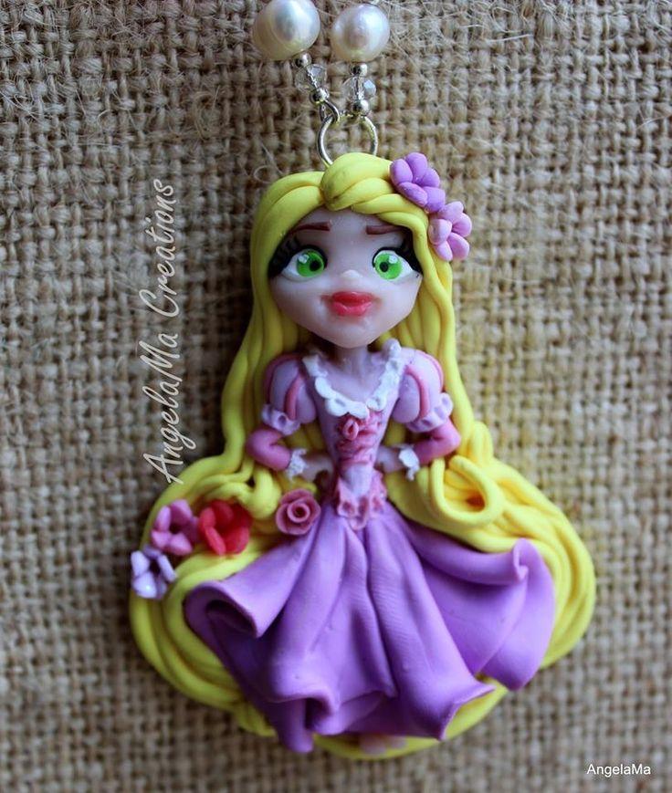 Rapunzel fanart fimo