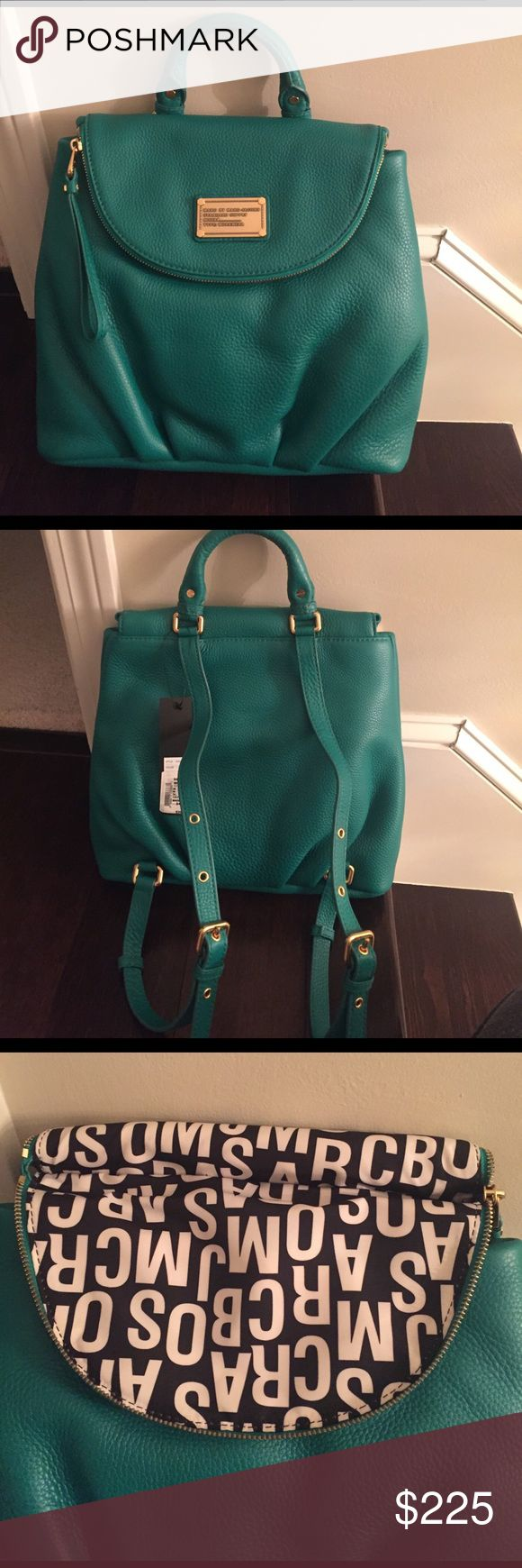 Marc by Marc Jacobs Emerald Green Backpack Marc by Marc Jacobs Emerald Green Backpack. Brand New, never used. Comes with original dust bag. Marc by Marc Jacobs Bags Backpacks