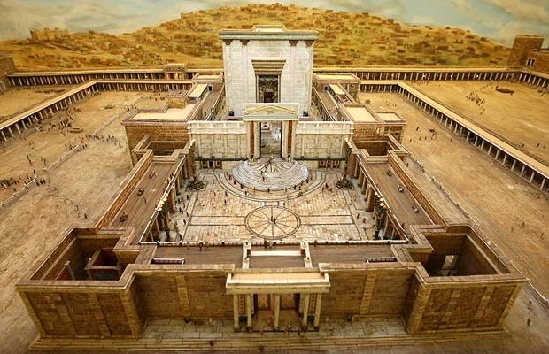 Herod's Temple was built on the site of Solomon's Temple after its destruction. It continues with the three part structure and has a Holy of Holies space. However, the Babylonians had taken the Ark of the Covenant after destroying Solomon's Temple. It is said that the Holy of Holies in Herod's temple was empty.