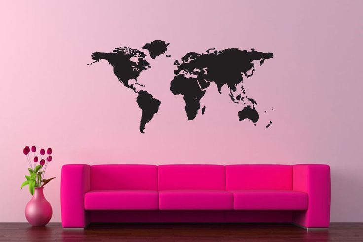 The 14 best world map wall decal world map wall sticker world world map sticker wall vinyl push pin map travel mural decal decor gift 266 gumiabroncs Choice Image