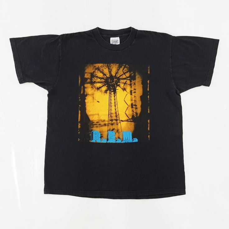 Vintage R.E.M. 1995 Tour T-Shirt  http://www.ebay.com/itm/-/152442015791?  #Vintage #90s #REM #Monster #Concert #Tour #Promo #T #Shirt #Alternative #Grunge #Rock #MichaelStipe #Pixies #TheSmashingPumpkins #PearlJam #Black #Large #NiceMan