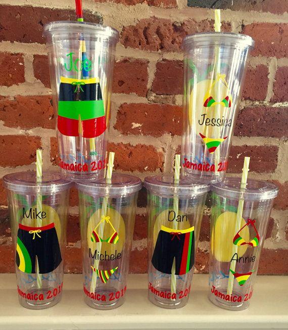 Custom Vacation Tumblers! 20oz Acrylic Tumblers For Jamaica Vacation!