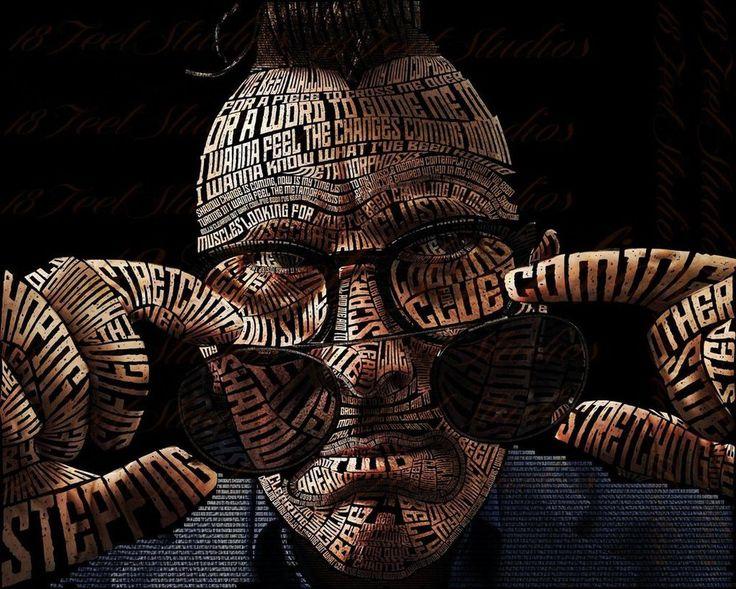 Maynard Keenan Typography Portrait by lilysmom85.deviantart.com on @DeviantArt