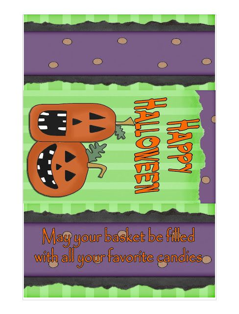 Happy Halloween Printable candy Bar WRapper by KandyKreations