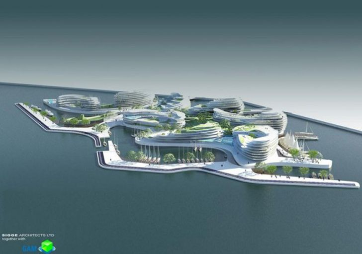 Sigge Architects has partnered with Global Accommodation Management to propose new floating hotels and apartments for the 2022 World Cup .