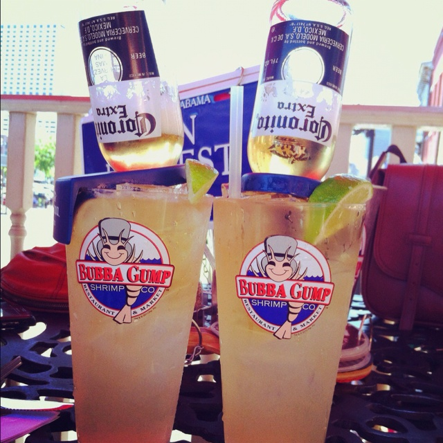 Bubba Gump - me and bubs drinkies!!