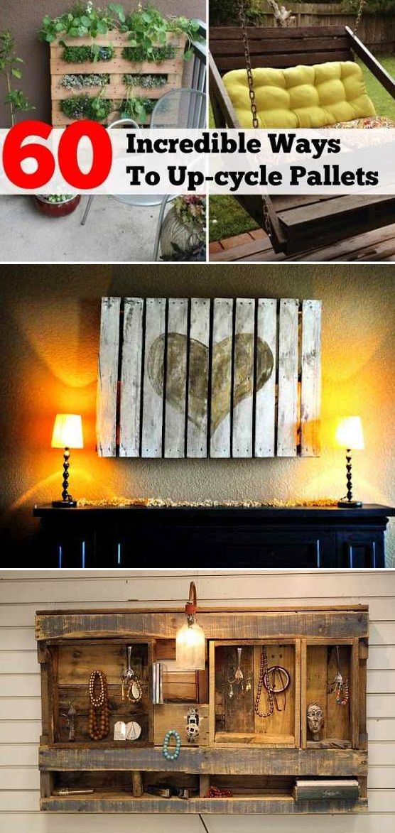 60 awesome ways to reuse wooden pallets reuse recycle for Ways to recycle wood