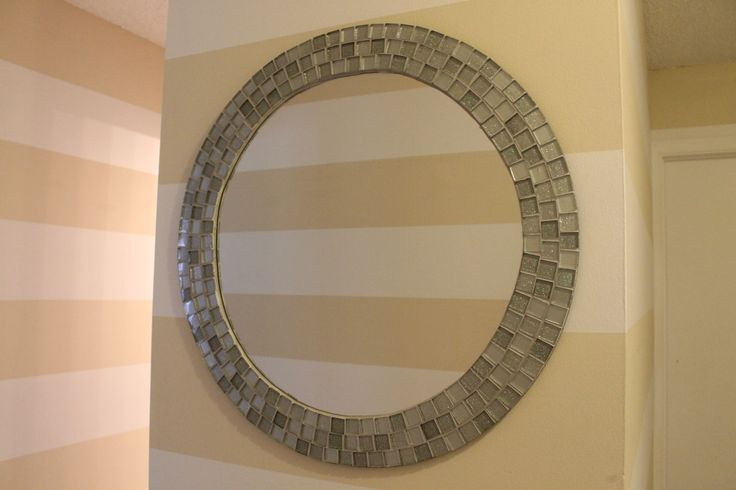 Diy Mosaic Tile Bathroom Mirror: DIY With Instructions For This Mosaic Tiled Mirror (way