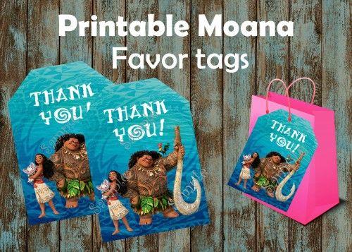 Moana favor tags, Printable Moana favor tags, DIY gift tags, Moana Birthday, Moana Disney, Moana Party, Moana Favors, Moana party supplies