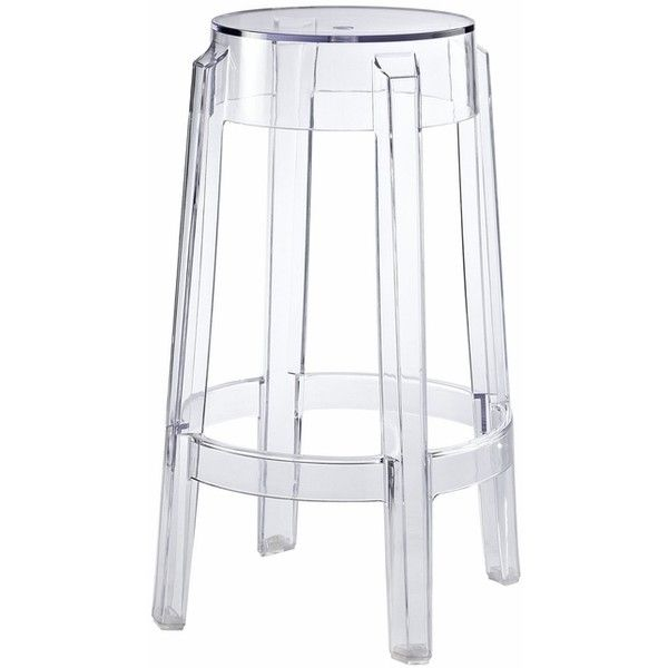 Casper Modernistic Transparent Acrylic Counter Stool, Clear (100 AUD) ❤ liked on Polyvore featuring home, furniture, stools, barstools, transparent bar stools, transparent furniture, acrylic barstool, acrylic stool and acrylic counter stools