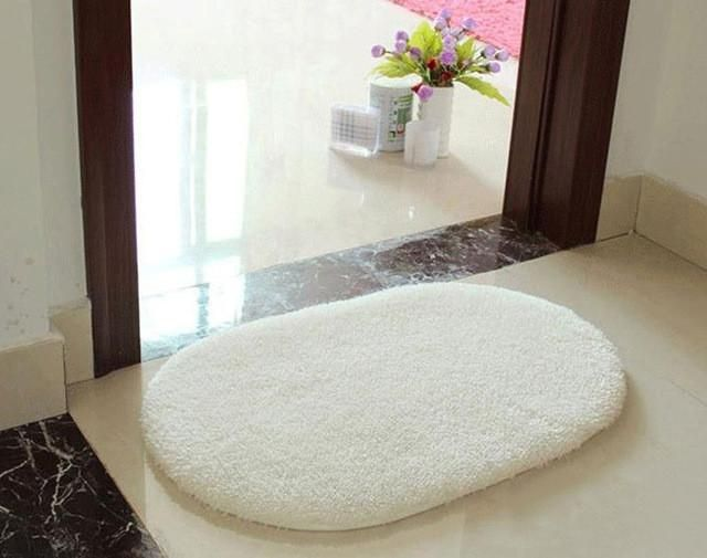 Soft Memory Foam Non Slip Bath Mat And Small Shaggy Rug With