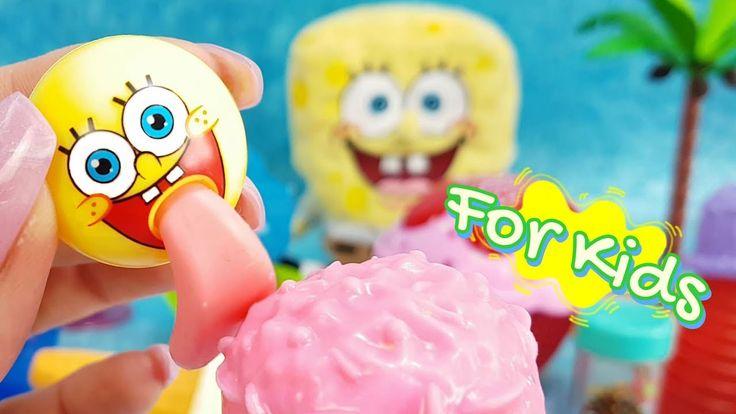 Spongebob Squarepants licking Ice Cream Surprise funny ASMR unpacking video