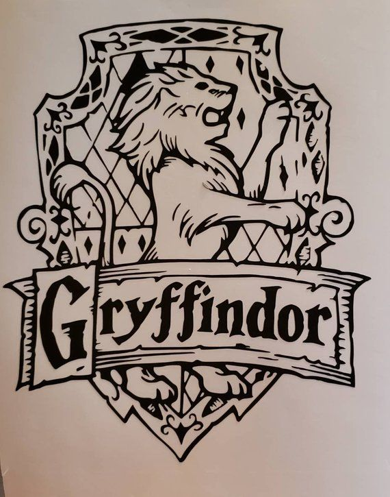 Gryffindor Crest Vinyl Decal | Vinyl decals, Harry potter ...