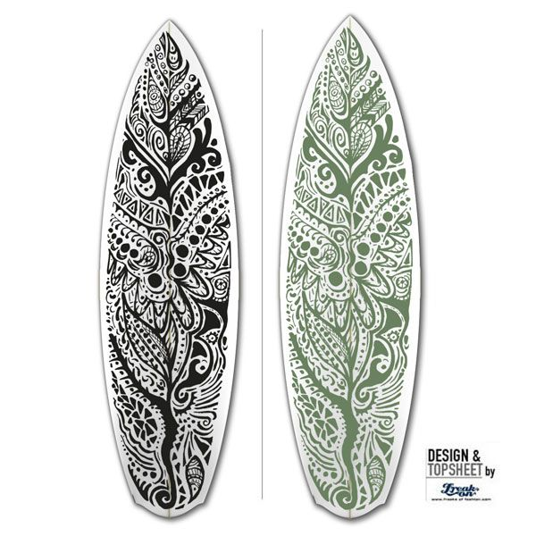 Surfboarddesign Mandala Fora now as Inlay/cloth for your custommade Surfboard @freaksoffashion.com