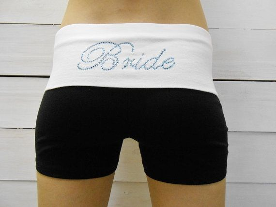 Personalized Bride Shorts With Monogram. Bridal by BrideBikini, $15.00