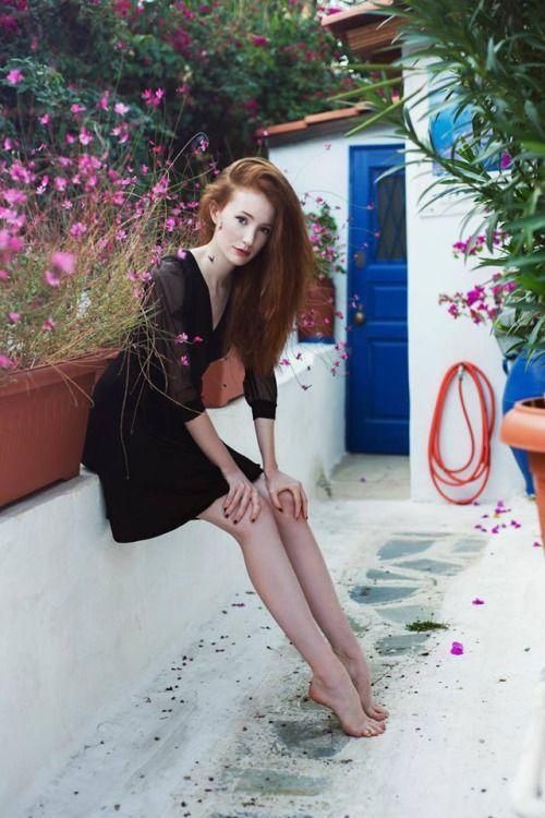 Gorgeous photo taken by Charoula Stamatiadou. Model is wearing black jersey wrap dress by Chrystal