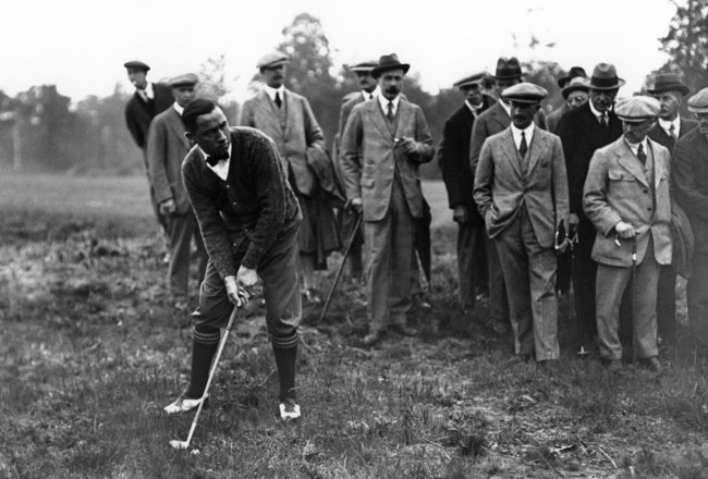 The very first Ryder Cup Matches were held at the Worcester Country Club in Worcester, Massachusetts in 1927. The United States team won by a score of 9½–2½ points. USA Captain Walter Hagen (pictured here) became the first winning captain to lift the Ryder Cup.