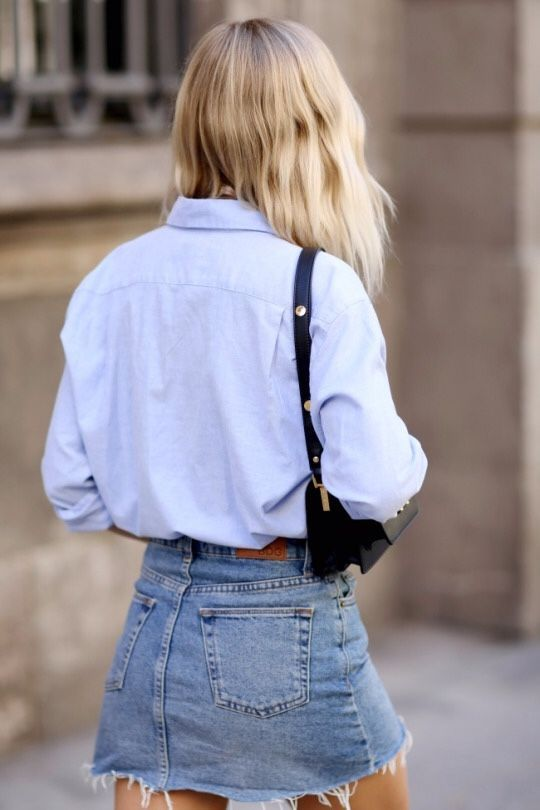 We can't get enough of denim skirts right now.