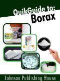 QuikGuide to: Borax - http://www.kindlebooktohome.com/quikguide-to-borax/ QuikGuide to: Borax   Borax can be used in many ways to maintain a clean, fresh, healthy home environment. 1.	Borax is natural. 2.	Borax doesn't cause cancer, 3.	Borax doesn't accumulate in the body4.	Borax isn't absorbed through the skin. 5.	Borax is not harmful to the environment. There are recipes for shampoo, simple liquid borax soap and a variety of other DIY products you can make for hom