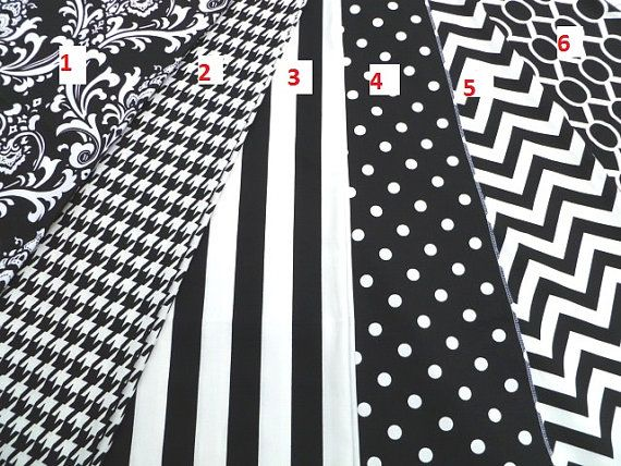 Black and white table runner, polka dot runner, chevron runner, houndstooth tablecloth