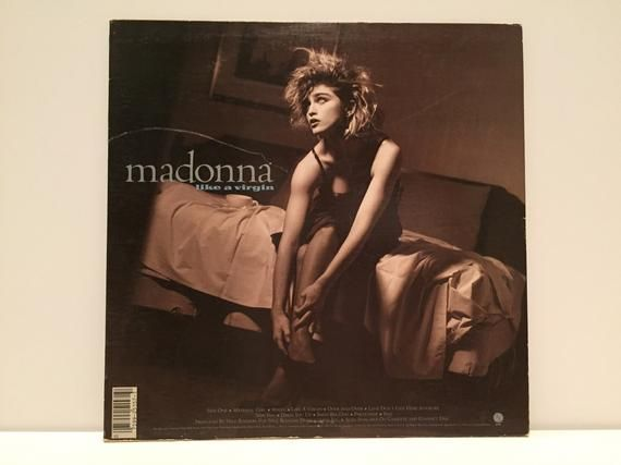 Madonna Like A Virgin Vinyl Record Vintage 80s Dance Music