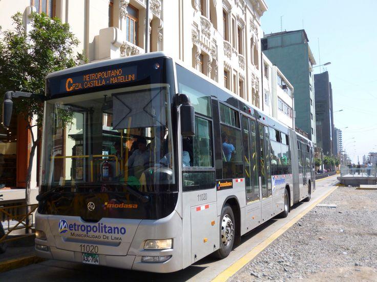 Lima, Peru, BRT bus of Metropolitano - Modasa/ Huanghai, DD6187SO2