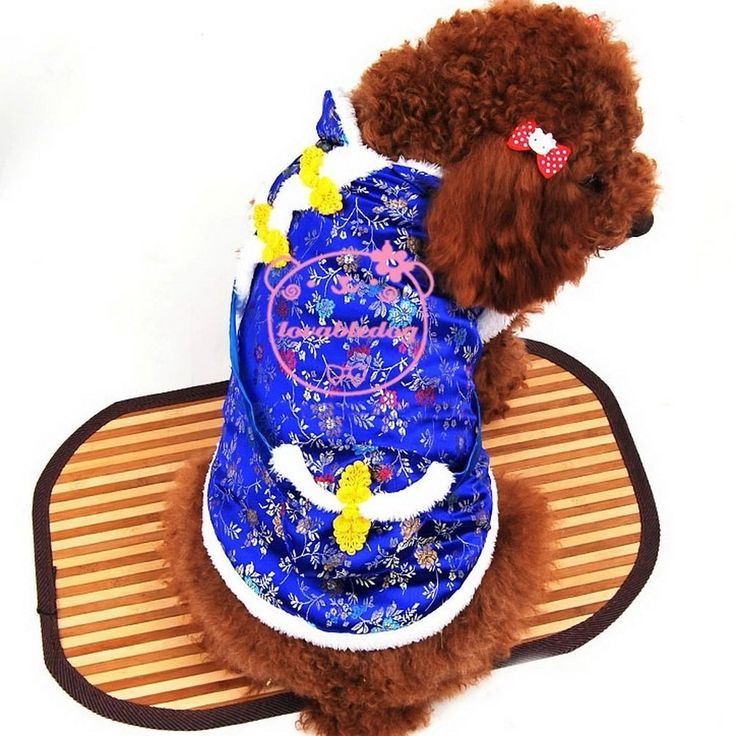 SELMAI Floral New Year Chinese Tang Dog Costume Dog Jacket Vest Coat Winter, for Small Dog Cat Puppy * Find out more about the great product at the image link. (This is an affiliate link and I receive a commission for the sales)