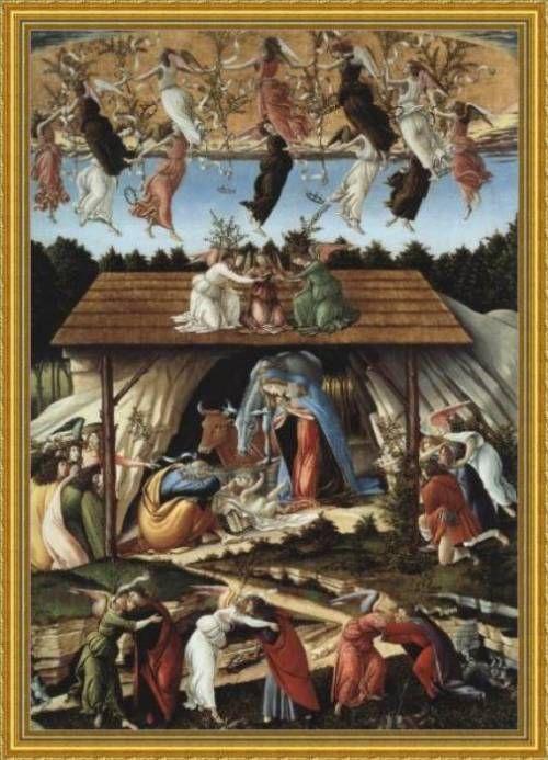 Sandro Botticelli, Natività Mistica, 1500-1501, National Gallery di Londra