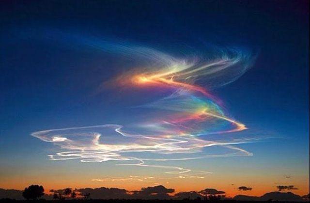 Circumhorizon Arc or Rainbow clouds