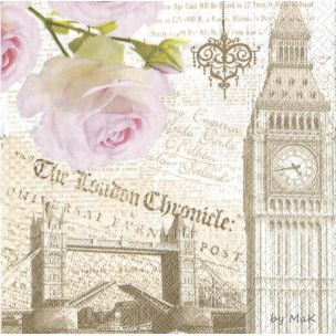 London servítka Londýn, Big ben, anglicko