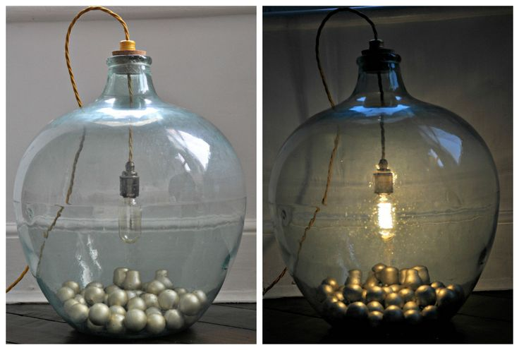 Carboy Lamp DIY