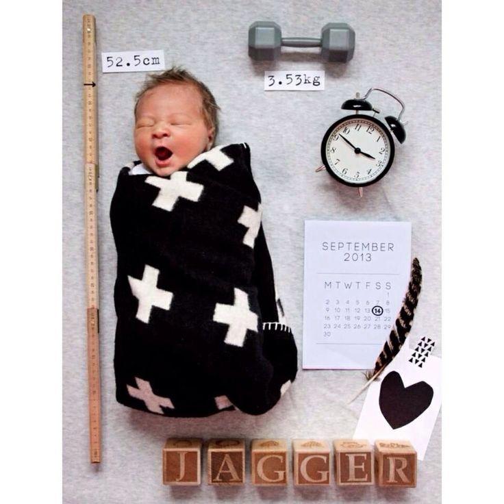 Too cute birth announcement idea !!!