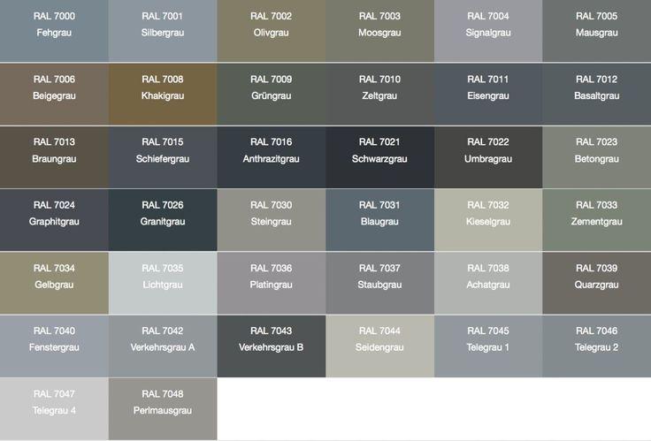 Bildergebnis für grautöne farbtabelle – aubenkuche.todaypin.com