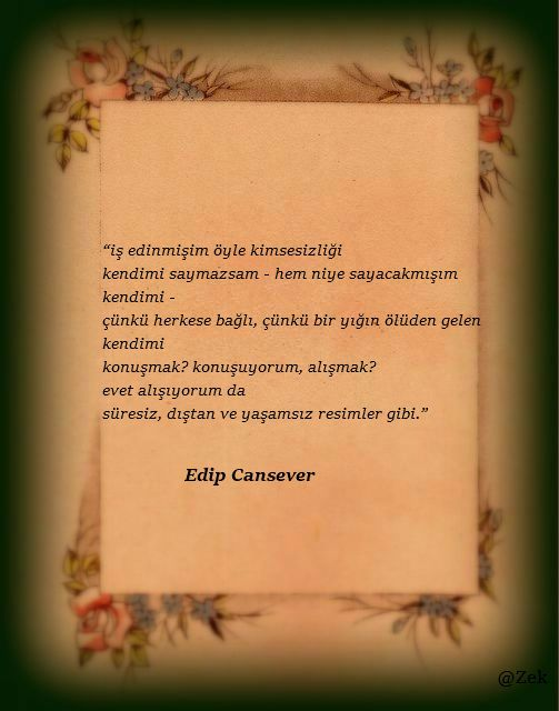 *Edip Cansever