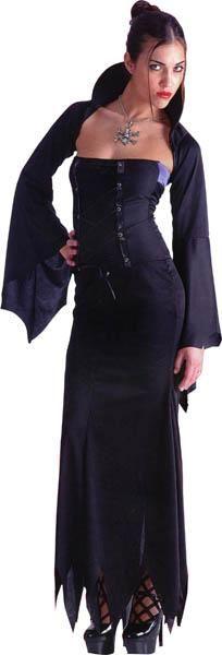 Ce déguisement de #sorcière pour femme composé notamment d'une robe longue fera de vous la plus effrayante des participantes à une soirée #Halloween ! En vente sur www.un-air-de-fetes.com