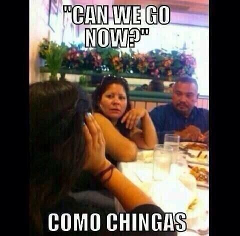 Okay my mom says this to all the time when do anything annoying
