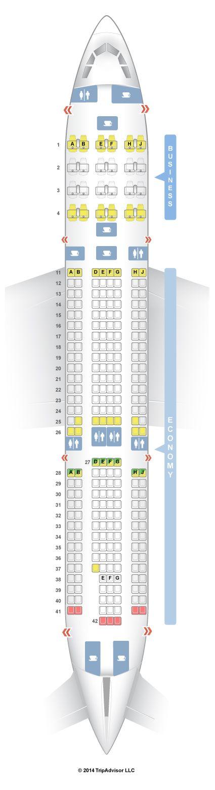 SeatGuru Seat Map TAP Portugal Airbus A330-200 (332) V1 - SeatGuru