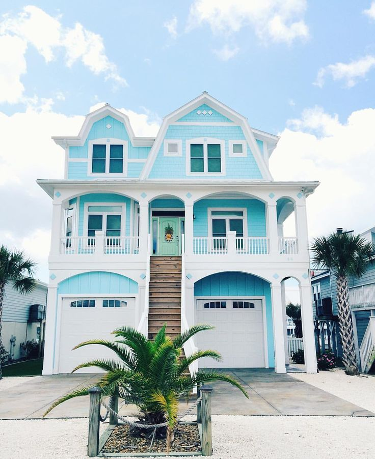 683 best Beach House Exteriors images on Pinterest | Beach ...