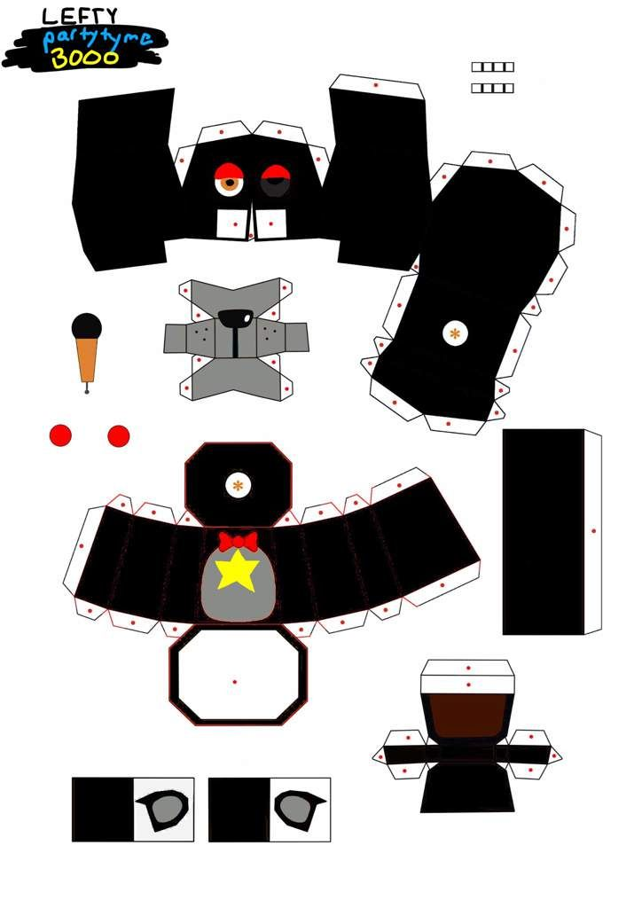Lefty Papercraft Five Nights At Freddy S Amino Fnaf Crafts Paper Crafts Cool Pokemon Cards