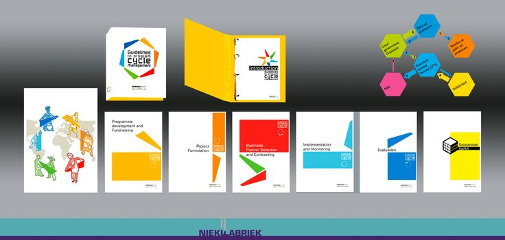 A logo, 6 booklets, , more then 20 illustrations for Solidaridad guidelines to programme cycle management. Challenge: create a business look with human feel, while explaining complex monitoring and management issues.