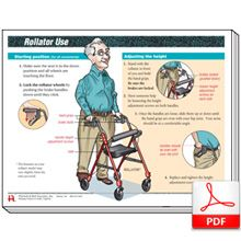 Rollator use handout help rollator using patients be safe and mobile