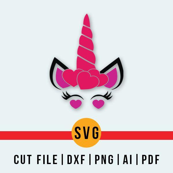 Valentine Unicorn Svg Silhouette And Cricut Cut Cutting File Svg