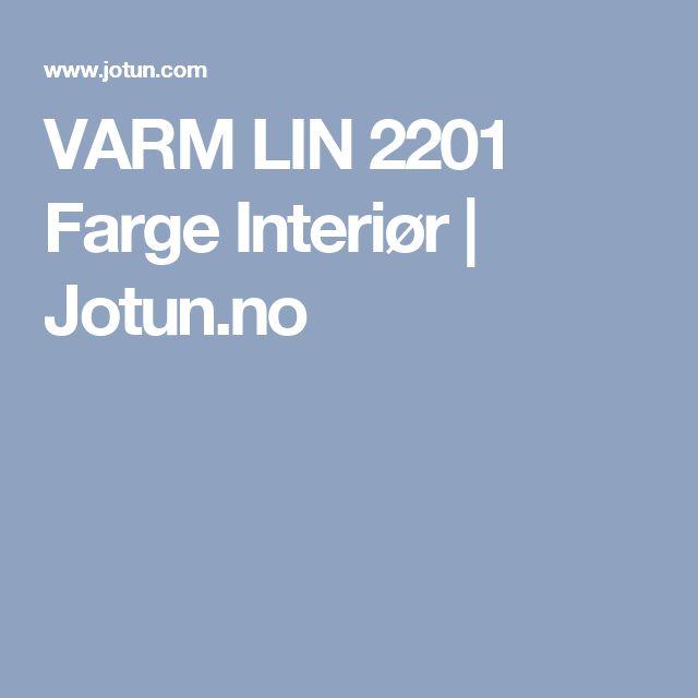 VARM LIN 2201 Farge Interiør | Jotun.no