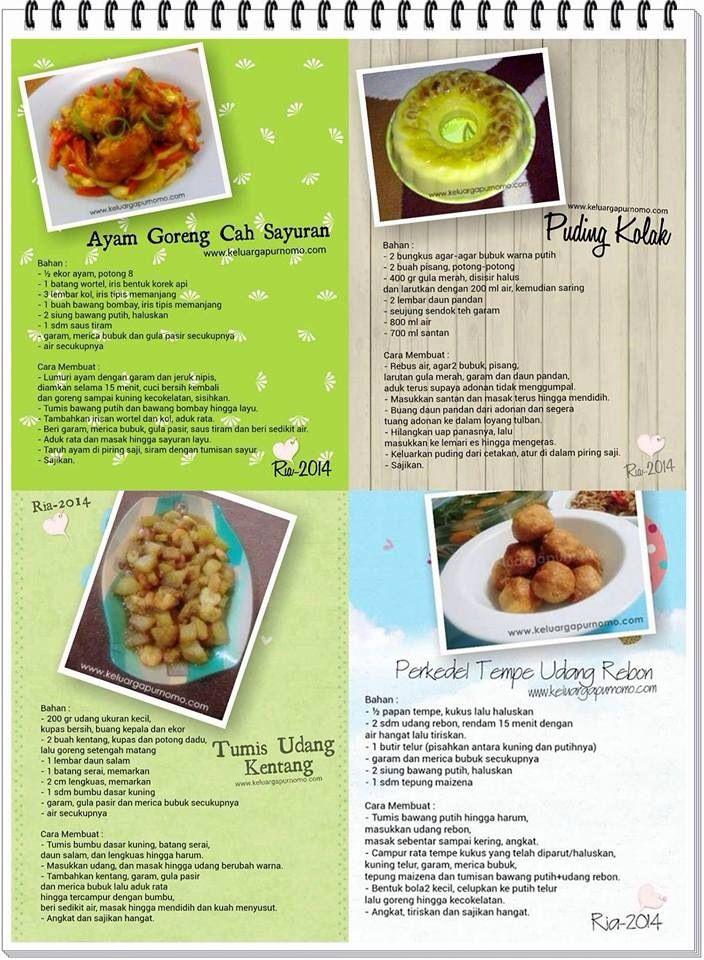 Ayam goreng cah sayuran, tumis udang kentang, perkedel Tempe udang rebon