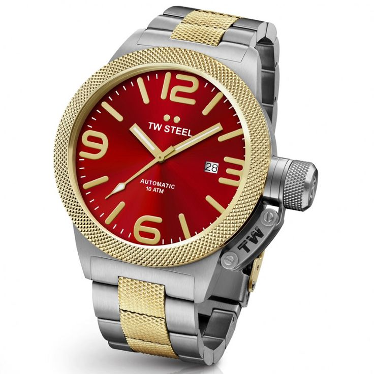 TW STEEL Automatic Canteen Bracelet Red Dial CB76