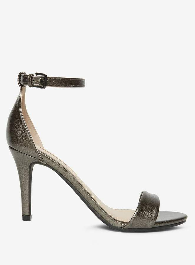 f72a3ae7618cd Dorothy Perkins Pewter  Stella  Heeled Sandals affiliatelink